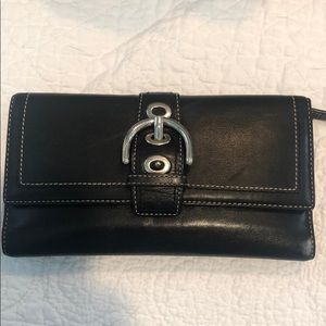 Authentic Coach wallet leather